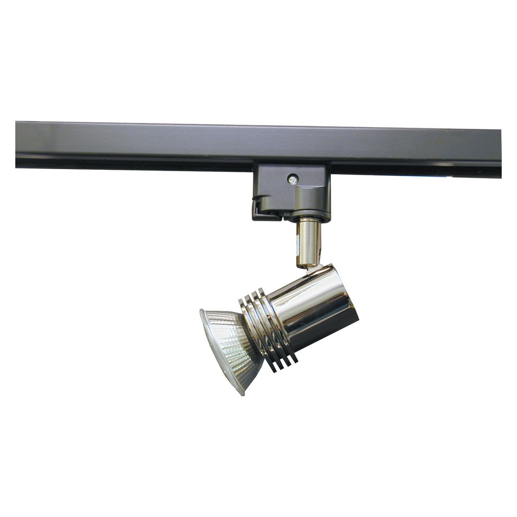 suspended high ceiling track lighting on